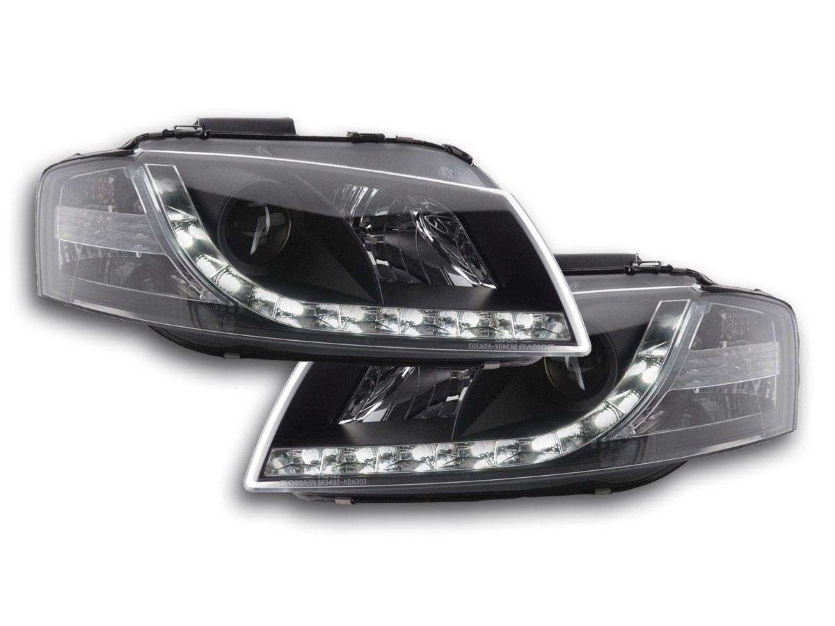 audi a3 2003 2008 8p black led drl daylight running light. Black Bedroom Furniture Sets. Home Design Ideas
