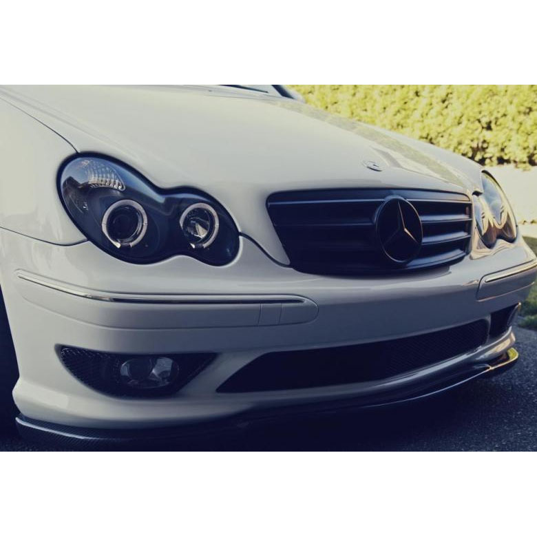 Mercedes benz w203 c class projector black angel eye for Mercedes benz c300 headlights